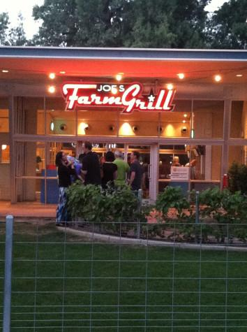 Joe's Farm Grill serving fresh food in peaceful setting