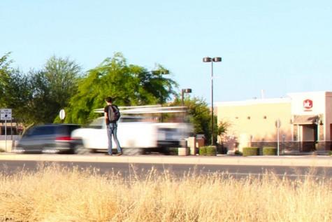 Students risk illegal parking; jaywalking