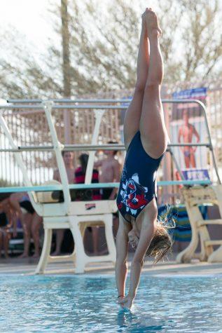 Varsity swim win vs. Corona
