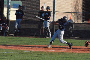 Shortstop Austin Bull rips a pitch last season for the Pumas. As a freshman in 2012, Bull was among Perry's best players in nearly every offensive category. In '13, he will look to lead the team back to the postseason.