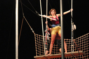 Trapeze artist Zoee Gregg practices her techniques at Trapeze U in Gilbert.