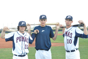 Baseball players Kyle Huckaby, Tyler Watson and Nick Jenkins have something more in common than the typical athlete.
