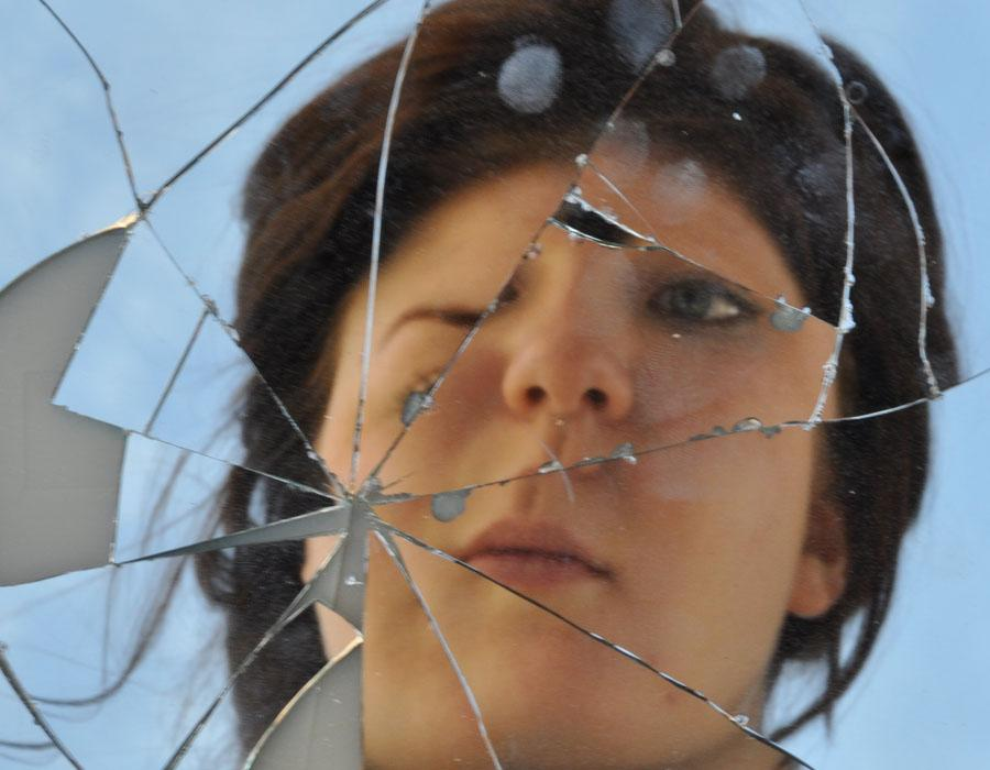 Amanda Lee demonstrates a visual of a broken perspective. Many others have the same idea about how see themselves.
