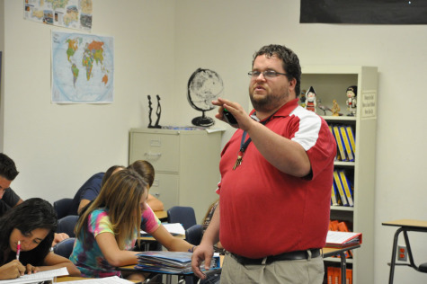 History teacher balances life at home and school