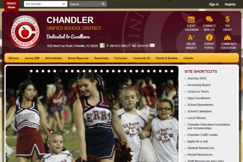 Screenshot of the updated district website