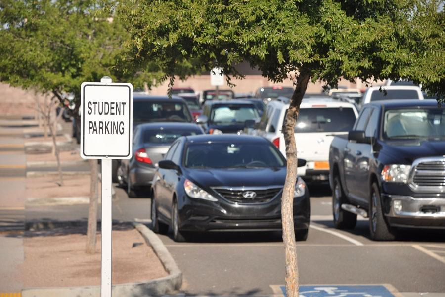 The student parking lot has been riddled with parents for too long.