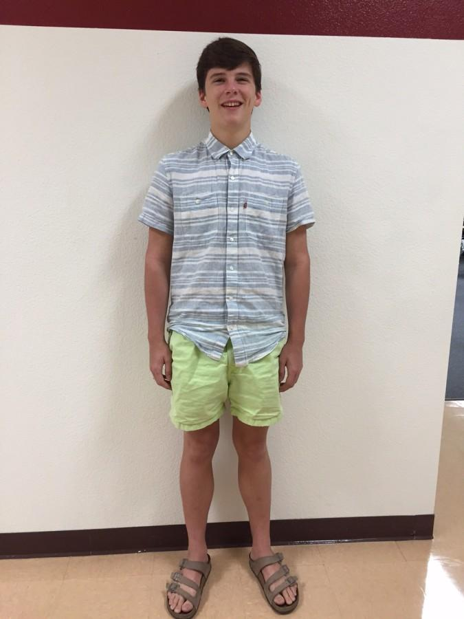Student+Jordan+Keller+shows+off+his+shorts.+