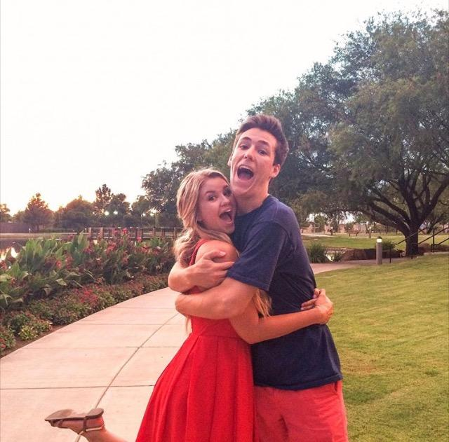 Band members and couple Jack Baker and Noelle Soucek embrace as they prepare to embark on their new musical adventure
