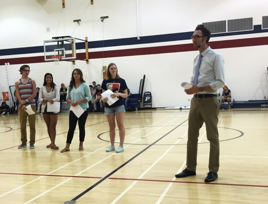 NHS officers were announced on the second meeting. NHS is a national organization which recognizes students for their academic and leadership qualities.