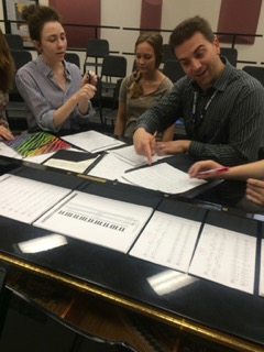 Mr. Staley teaches music theory to Jazz students.