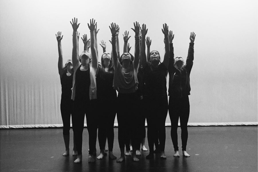 Farah Sadlers improv class performs senior dancer Brooke Millers Escaping the Control to help spread awareness for domestic violence.