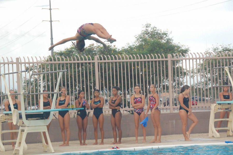 Dive students execute skills at meet