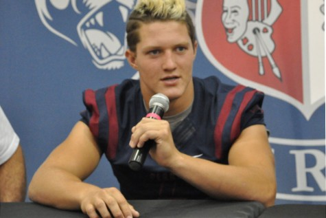 Case Hatch, senior, was named best Arizona defensive player of 2015 by The Arizona Cardinals.