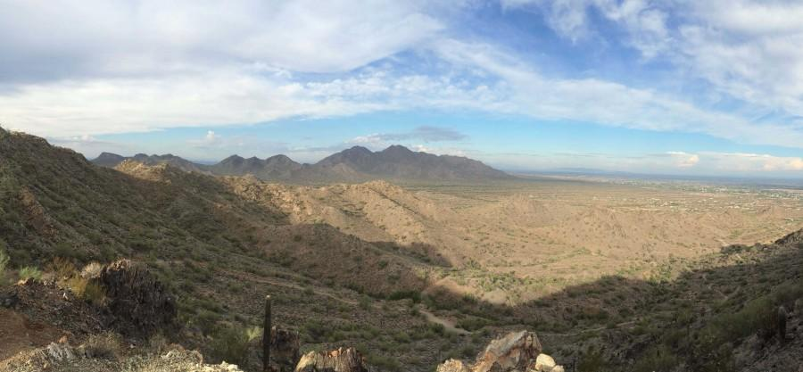 View from the top of San Tan Mountain