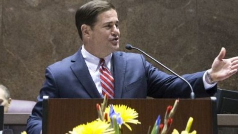Gov. Doug Ducey delivering his second State of the State speech.