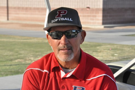 Mug shot of softball coach Rob Hehe.