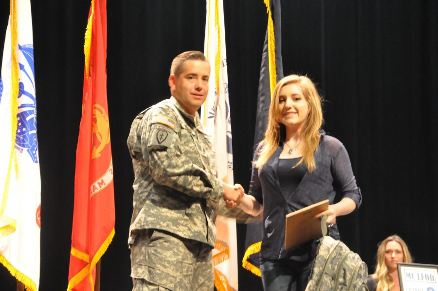 Clarissa Mews is being recognized for enlisting in the Military