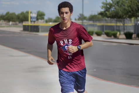 Richard Cassone(11) running during a cross country practice on August 24th. Photo by Sam Anguiano
