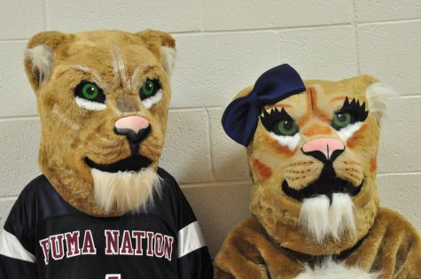 Perry's mascots side by side at the start of the new school year.