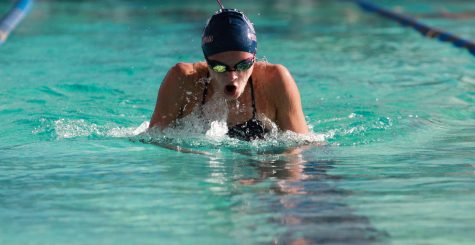 Freshman swimmer breaks multiple PHS records