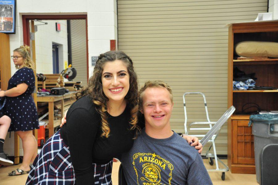 Founder Emily Narducci with sophomore Fletcher Jones.