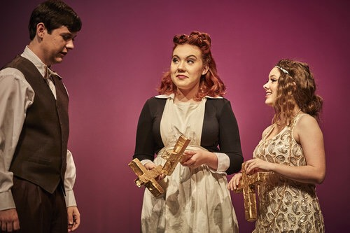 Senior Rhea Johnston (middle) performs in Shakespeare's