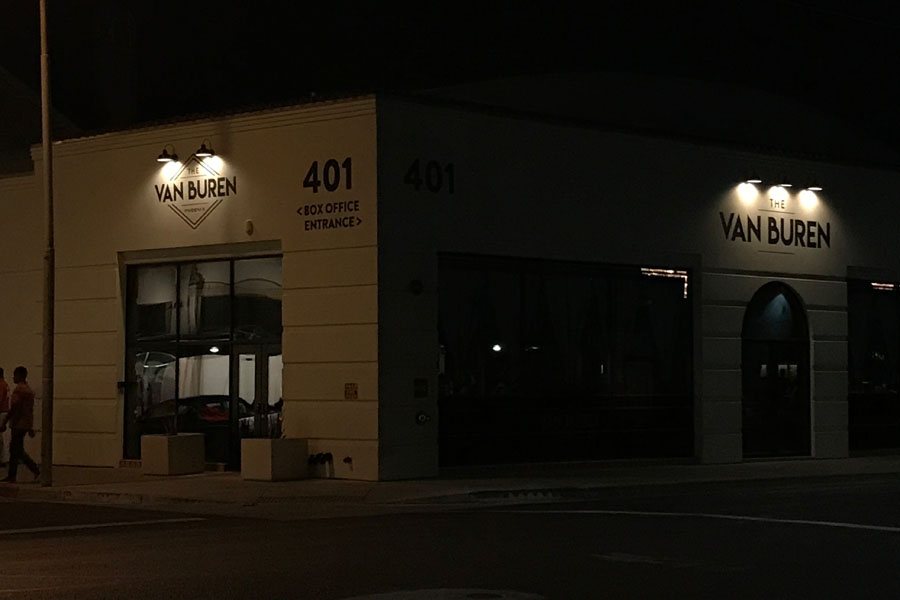 Outside+of+the+Van+Buren+at+night