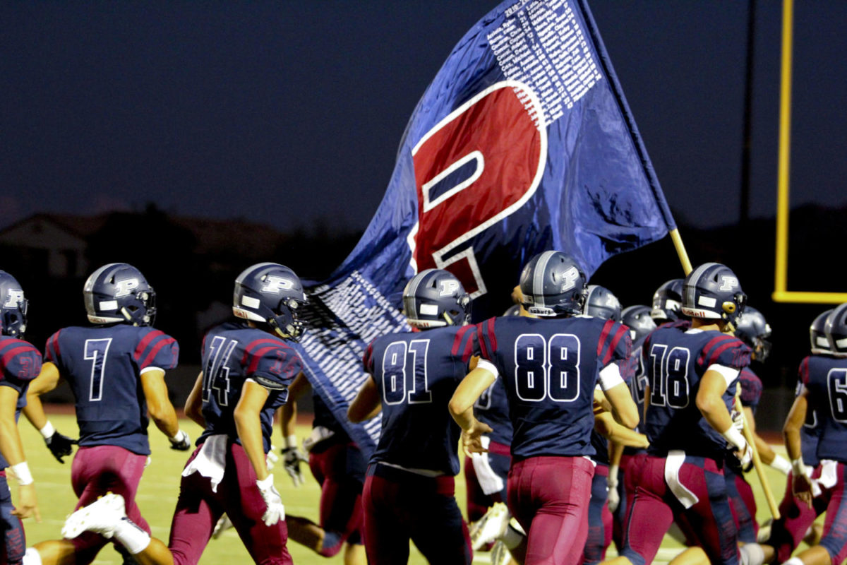 The Pumas charge onto the field before a  game. They played great and defeated their opponent.