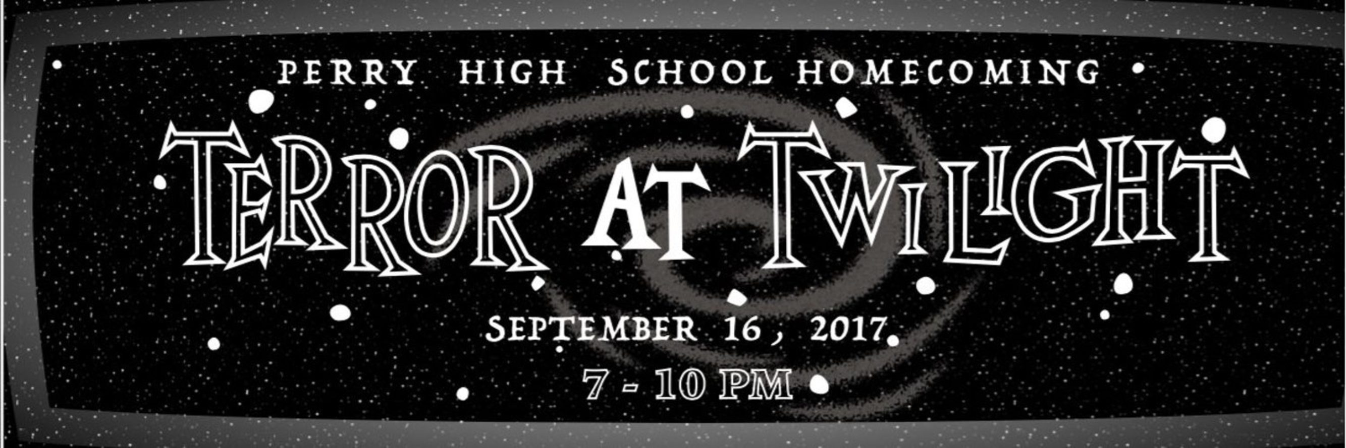 Terror at Twilight is on September 16, 2017 in the big gym from 7 PM to 10 PM.