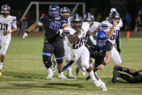 Junior RB Keegan Grimes running the ball in the Perry vs Chandler regular season game