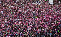 Women march in Washington DC, photo by creative commons