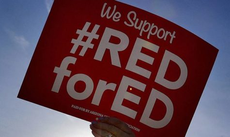 The participants in this movement wear red on Wednesdays and on Mar. 28, they held a march in Phoenix to peacefully protest the low wages. They marched to have a 20 percent raise and were denied by Governor Doug Ducey.
