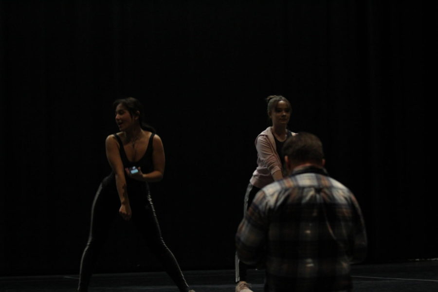 Amanda Federico prepares and helps out teaching the choreography