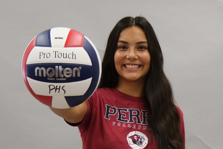 Senior Tatum Stall taking on a leadership role this year as a varsity volleyball player.