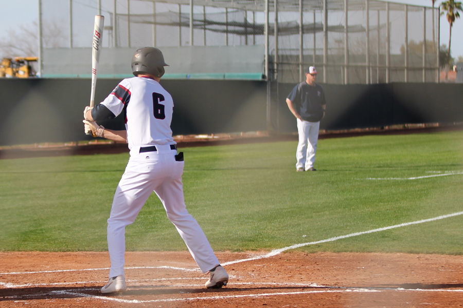 Baseball player Dustin Crenshaw hits in a game last season. The senior is a GCU-commit, and recently played in the Area Code Games - a prestigious showcase for the nation's best players - which made him miss an entire week of school.
