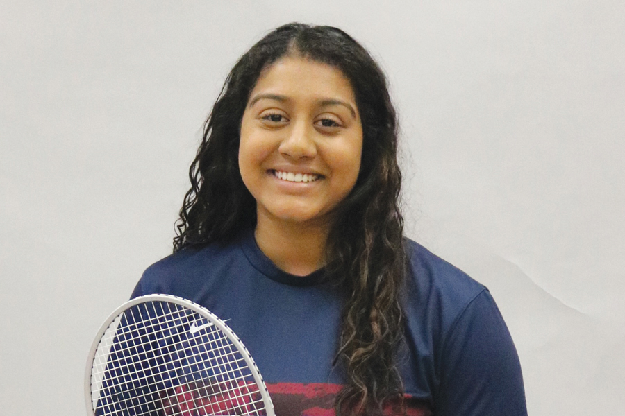 Sophomore Nikhita Jayaraj was part of the state championship badminton team in 2018 and is looking to add another ring in '19