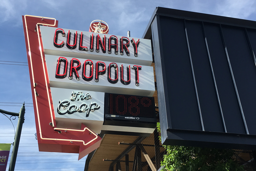 Culinary Dropout in downtown Gilbert may be a little more on the expensive side, but offers a lot of fun and variety for a pre-hoco meal with friends.