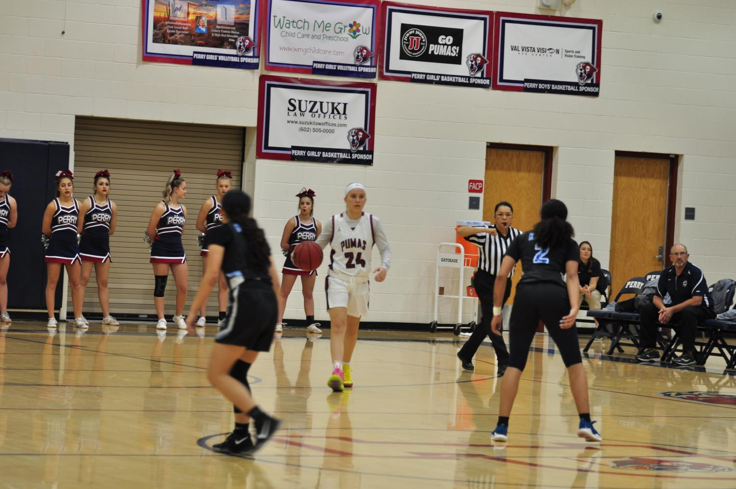 Grace Oken dribbles during a recent game.