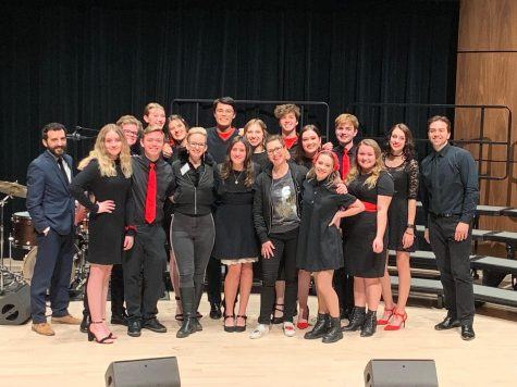 Jazz choir after their performance in the NAU Jazz Madrigal festival from Feb. 6-8.