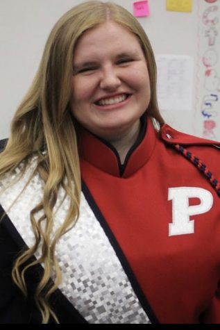 Lindsey Clouse has been part of the puma regiment for four years.  She has been in various bands while in high school.