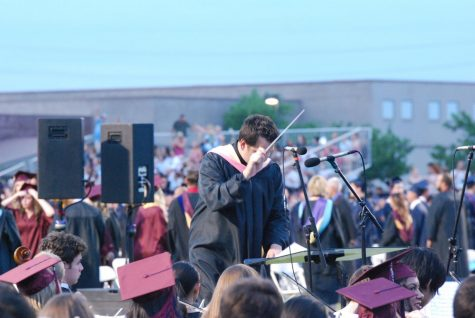 Seniors gather at the class of 2017 graduation. In the past, graduation was held at Perry's football stadium, but the ceremony has since been moved to ASU. This year, seniors ponder how graduation will be held in the midst of social distancing.