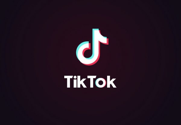 The TikTok logo that the user will see when entering the app.