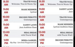 Screenshot of the free Break The Floor live classes offered on day one.