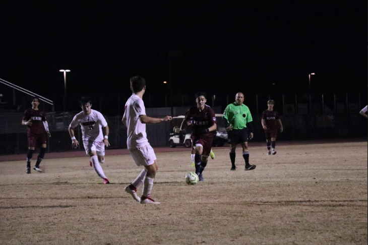 Season 2019-2020, men's soccer game. Many players of last year are on the team this year.