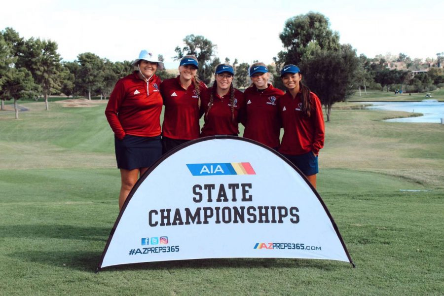 Girls golf at State Championship in Tucson.
