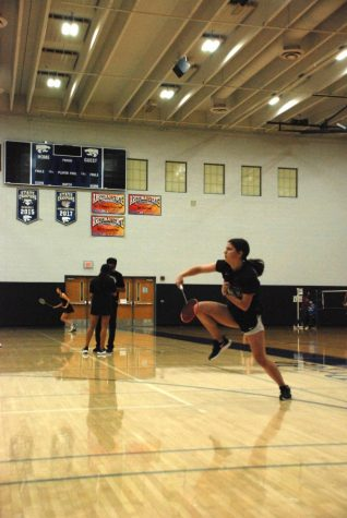 Kate McPherson, Senior, participates in the Badminton Championships playing as the number 1 seed.