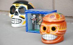 Decorative calaveras to honor the deceased