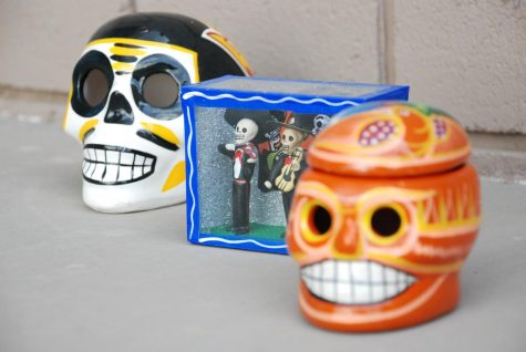 Decorative calaveras to honor the deceased
