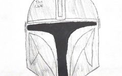 The Mandalorian's Helmet. Laying in wait for Mando to place back on.
