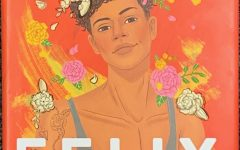 Kacen Callender's novel, Felix Ever After. Felix is wearing a flower crown and a shirt that shows his top surgery scars.